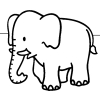 Раскраска - Слон